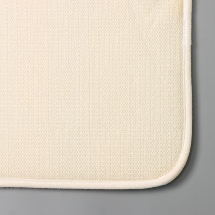 """Bath Mat """"Colored wood"""""""