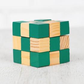 Головоломка-мини «Куб», зелёный