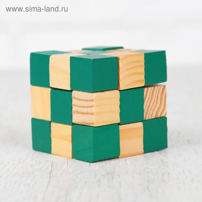 """Головоломка-мини """"Куб"""", зеленый"""
