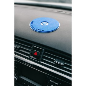The Mat is anti-slip with a phone number, size 21 cm, blue,