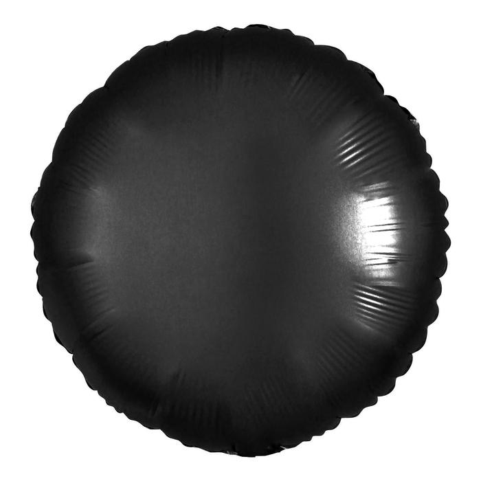 """Шар полимерный 18"""" """"Неон"""", круг, цвет чёрный - фото 308475646"""