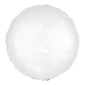 "Polymeric balloon 18"" Neon, round, color white"