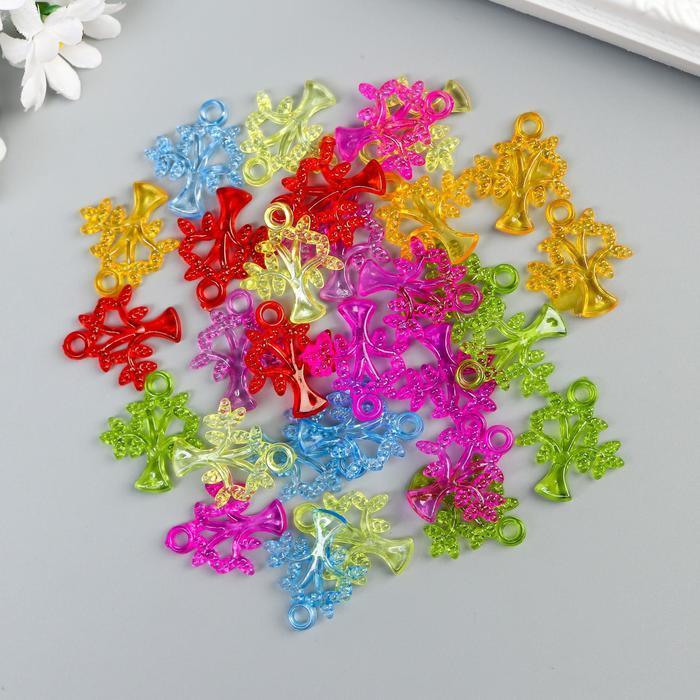 """Декор для творчества пластик """"Деревце"""" прозрачный набор 30 шт 2,6х2,2 см - фото 700701115"""