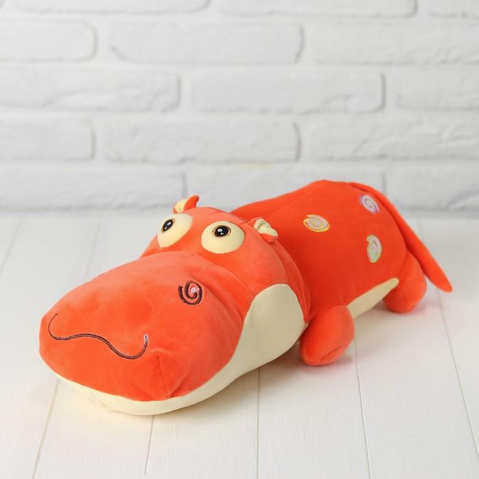 """Мягкая игрушка """"Весёлый бегемот"""", цвет оранжевый"""
