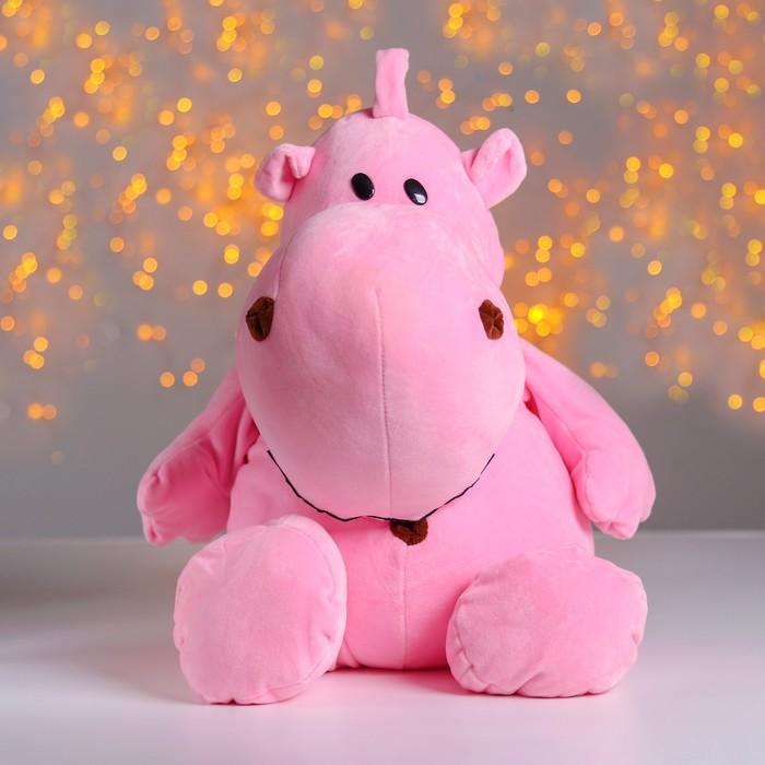 Мягкая игрушка «Бегемотик», 44 см, цвет розовый - фото 1056047