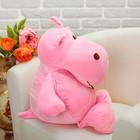 Мягкая игрушка «Бегемотик», 44 см, цвет розовый - фото 1056048