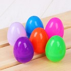 """Основа для творчества """"Яйцо"""", открывается, набор 6 шт, размер 1 шт 4*6 см, цвета МИКС"""