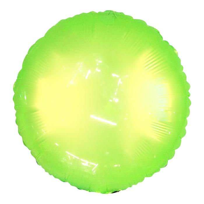 """Шар полимерный 18"""" """"Неон"""", круг, цвет зелёный - фото 308475649"""
