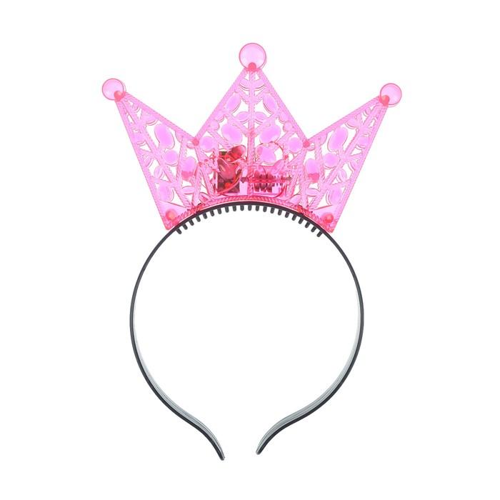 """Ободок световой """"Корона"""", цвет розовый"""