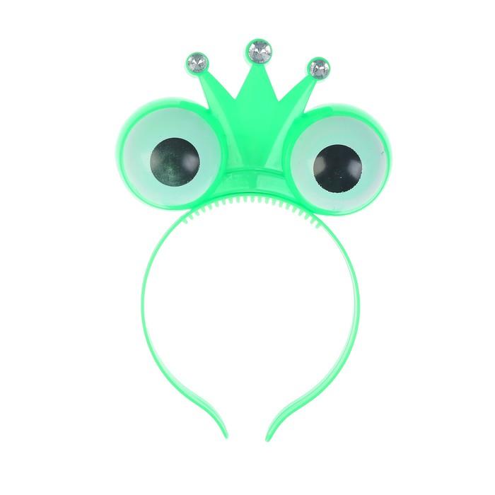 """Ободок световой """"Царевна лягушка"""", цвет зеленый"""