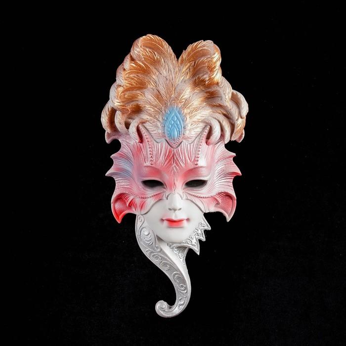 """Венецианская маска """"Сова"""", 27 см,белая МИКС"""