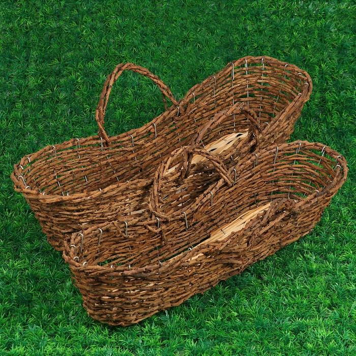 Набор корзин «Элит», 2 шт: 64х20х14,5 см, 59х16х7,5/11,5 см, виноградная лоза