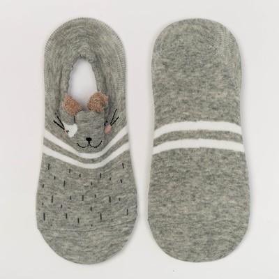 Носки женские невидимки ННЖ16-15-24 Мишка, р-р 23-25