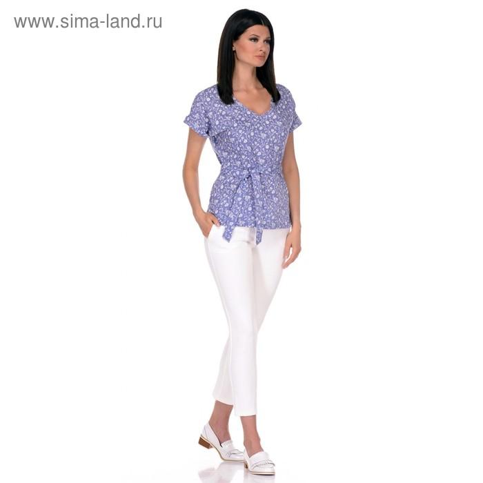 Блуза женская, размер 54, цвет голубой 271