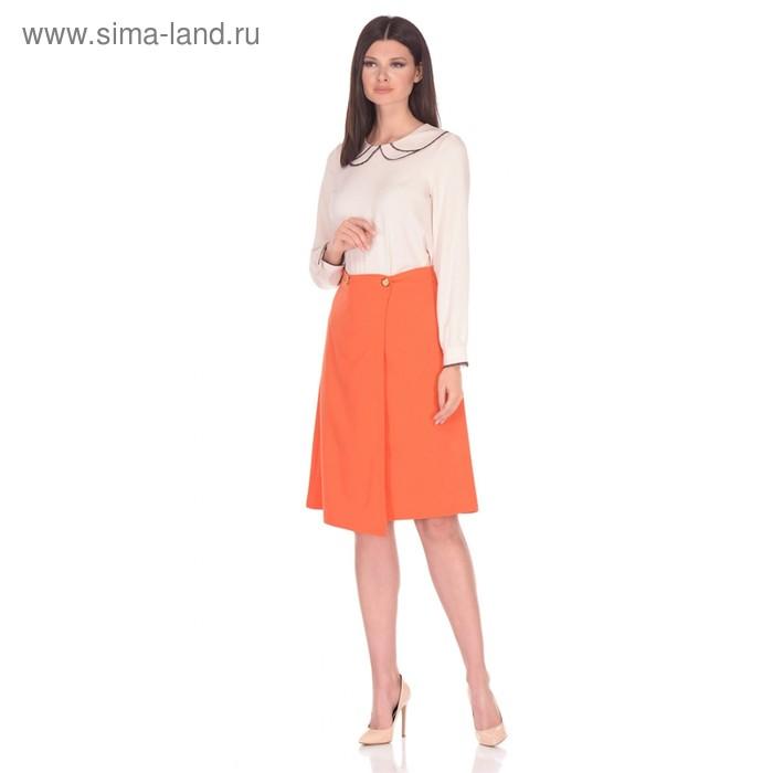 Блуза женская, размер 52, цвет бежевый 224