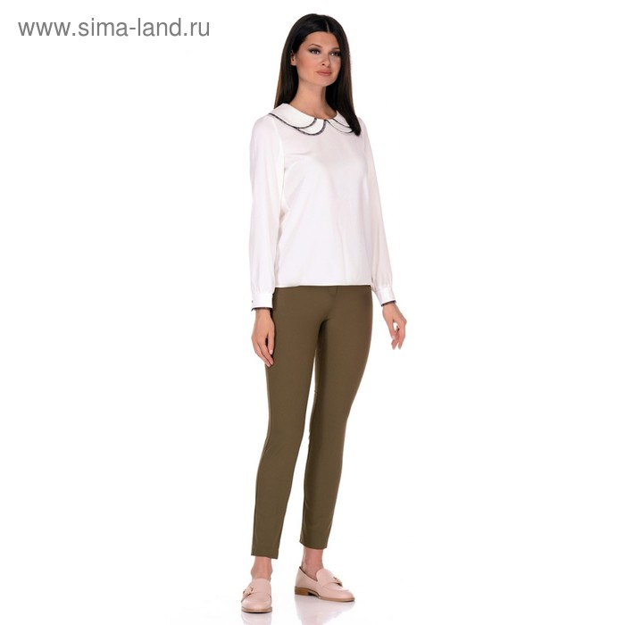 Блуза женская, размер 52, цвет белый 224-1