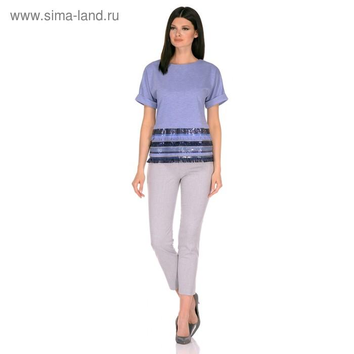 Блуза женская, размер 48, цвет сиреневый 290