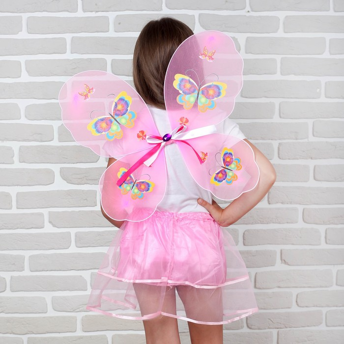 Карнавальный набор «Бабочка», 2 предмета: юбка и крылья - фото 105446081
