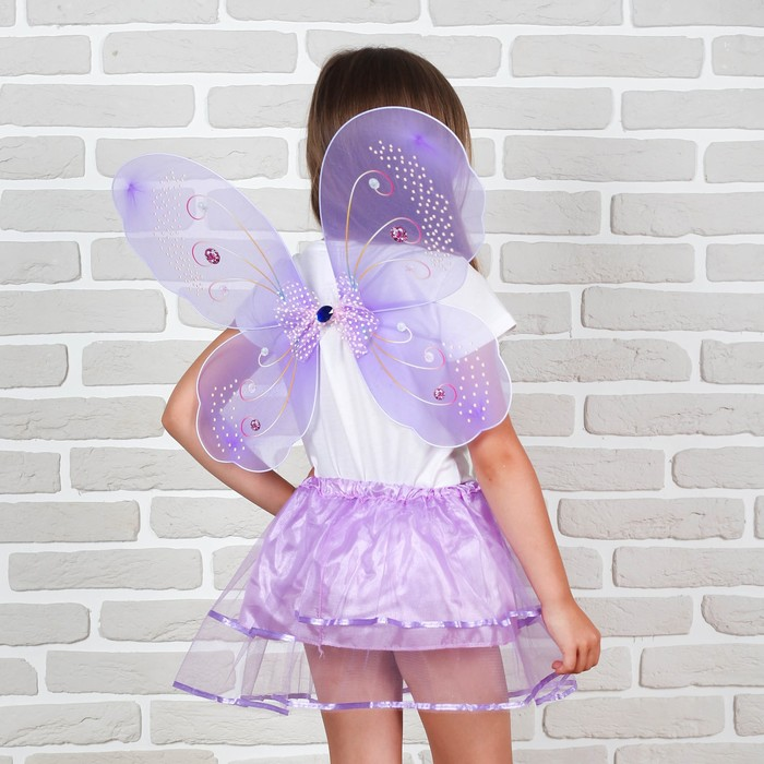 """Карнавальный набор """"Фея"""" 2 предмета: юбка и крылья"""