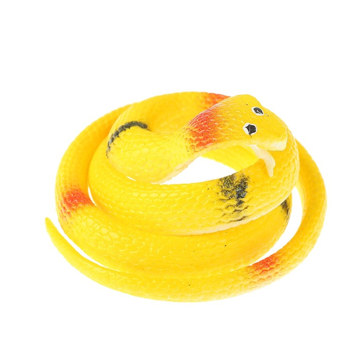 "Прикол резиновая ""Кобра"" 70 см, цвет желтый"