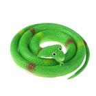 """Прикол резиновая """"Кобра"""" 70 см, цвет темно-зеленый"""