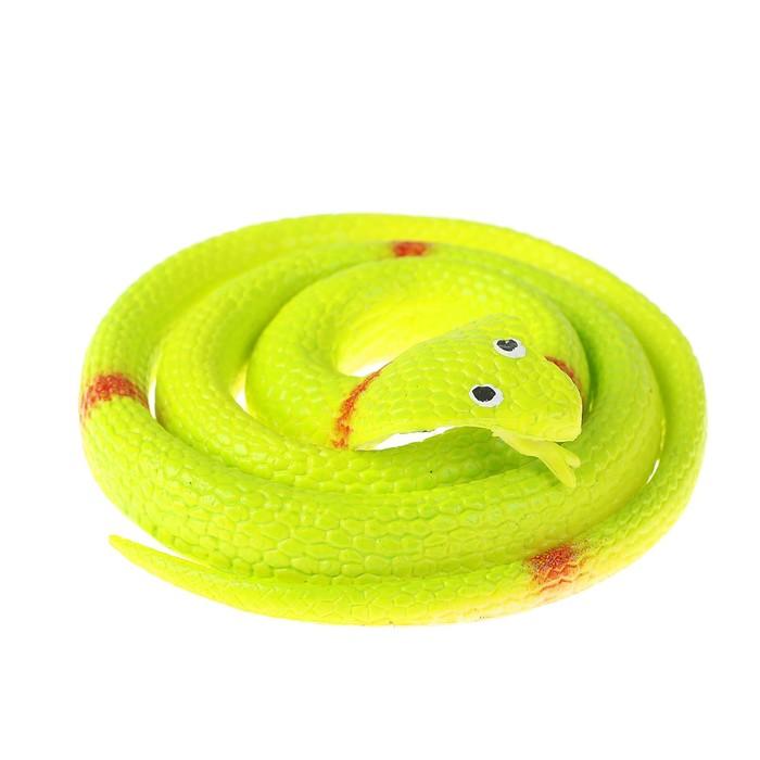 """Прикол резиновая """"Кобра"""" 70 см, цвет зеленый"""