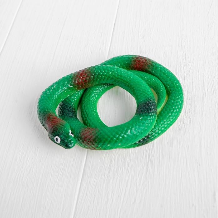 Прикол «Гадюка», резиновая, 70 см, цвет зелёный - фото 799740951