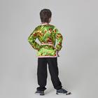 Карнавальная русская рубаха «Хохлома», атлас, р. 32, рост 122-128 см, цвет зелёный - фото 105521349