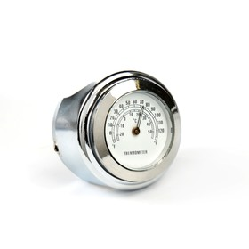 Thermometer motorcycle, handlebar, white dial, chrome
