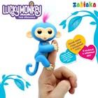 Музыкальная игрушка «Мартышка Lucky Monkey», закрывает глаза, работает от батареек, МИКС
