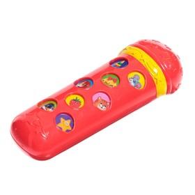Музыкальная игрушка «Микрофон Я пою», цвет красный, 16 песенок