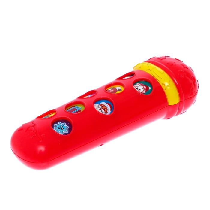 """Музыкальная игрушка """"Микрофон С новым годом!"""", красный, 16 песенок"""