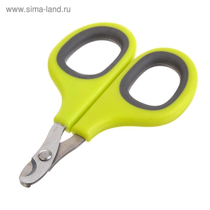 Ножницы-когтерезы с мягкими ручками, отверстие 8 мм, микс цветов