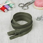 Молния для одежды «Спираль», разъёмная, №7, 60 см, цвет «хаки»