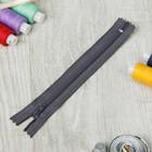 Молния для одежды «Спираль», неразъёмная, №3, 16 см, цвет серый