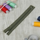 """Zipper for clothes """"Spiral"""" all-in-one, No. 3, 18cm, color """"khaki"""""""