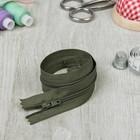 Молния для одежды «Спираль», неразъёмная, №3, 30 см, цвет «хаки»