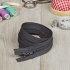 Молния для одежды «Спираль», неразъёмная, №4, 60 см, цвет серый