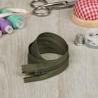 Молния для одежды «Спираль», неразъёмная, №3, 40 см, цвет «хаки»