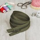Молния для одежды «Спираль», разъёмная, №7, 100 см, цвет «хаки»