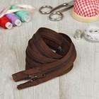 Молния для одежды «Спираль», разъёмная, №7, 100 см, цвет коричневый