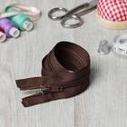 Молния для одежды «Спираль», разъёмная, №7, 40 см, цвет коричневый