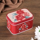 "Box metal box ""a Bouquet of roses. Love"" 6,5х9х5,5 cm"