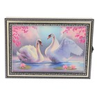 """Ключница пластик """"Белые лебеди"""" 25х35 см"""