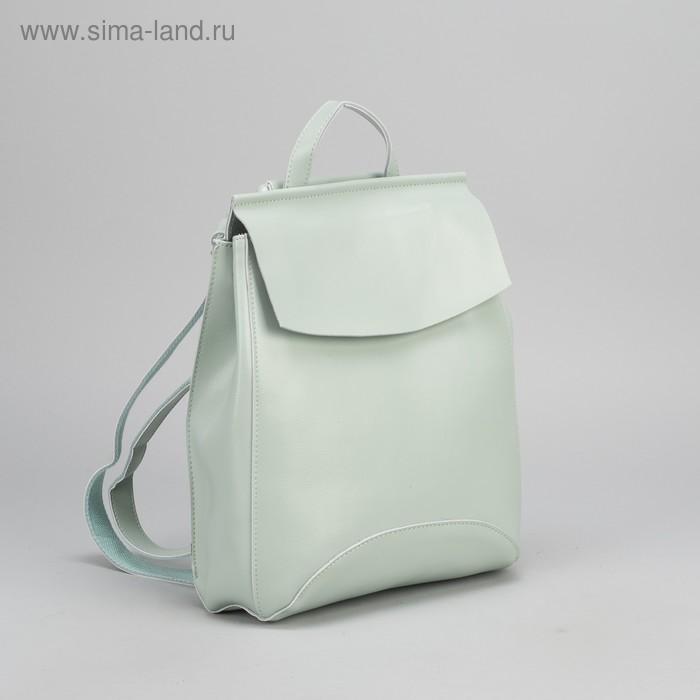 Рюкзак мол L-003, 26*8*32, отдел с перег на молнии, н/карман, мятный