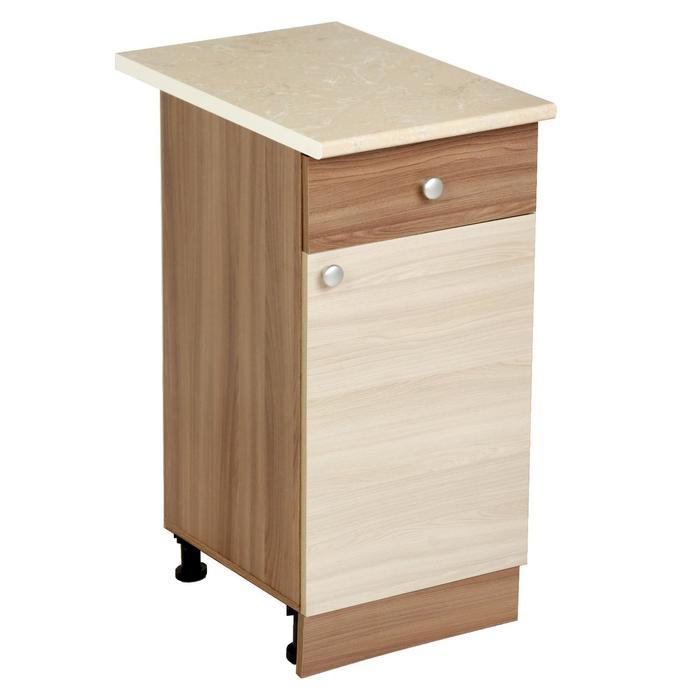 Шкаф напольный, 400 × 450 × 840, Ясень шимо темный/Ясень шимо светлый