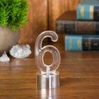 """Led candle """"Figure 6"""", color silver"""
