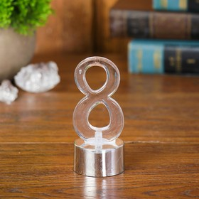 """Led candle """"Figure 8"""", color silver"""