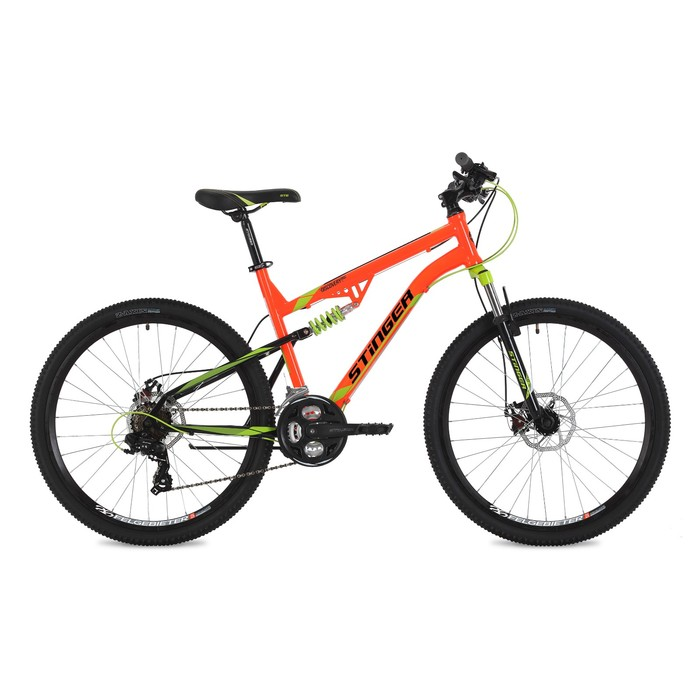 "Велосипед 26"" Stinger Discovery D, 2018, цвет оранжевый, размер 16"""