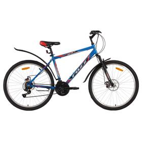 """Велосипед 26"""" Foxx Aztec D, 2018, цвет синий/красный, размер 18"""""""